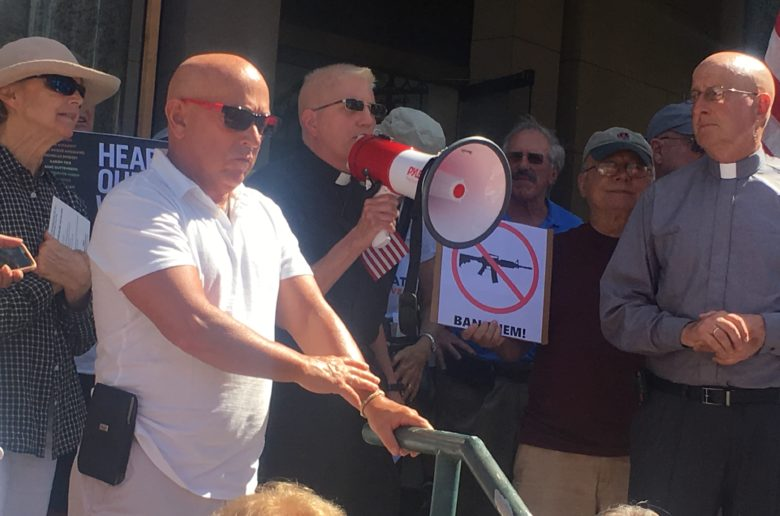 Photos, Video – Hundreds attend rally at IRC Courthouse demanding gun law reform