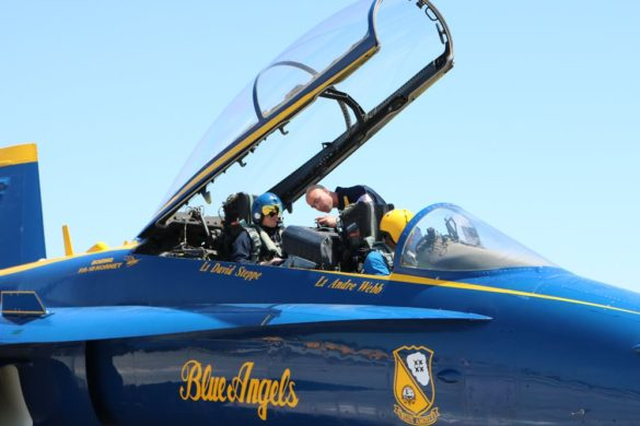 Photos – 'Exhilarating': Superintendent flies with Blue Angels