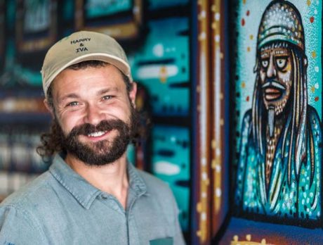 Wall power! Muralist Fisher builds national following