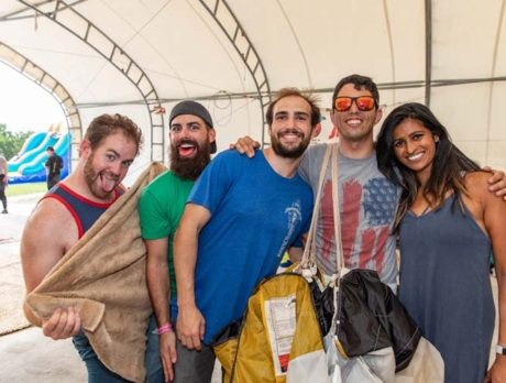 Drop in anytime! Skydivers get the jump on 'Splash Bash'