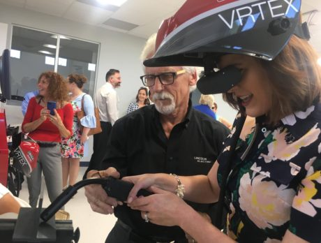 Virtual welding unveiled at new industrial technology bldg for tech college