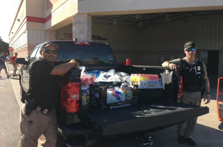 Shores officers deliver supplies to hurricane victims