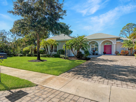 Crystal Falls of Vero home features beautiful landscaping
