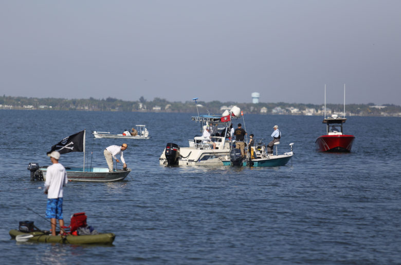 Hundreds turn out for fishing rights protest, as deputies and FWC officers look on