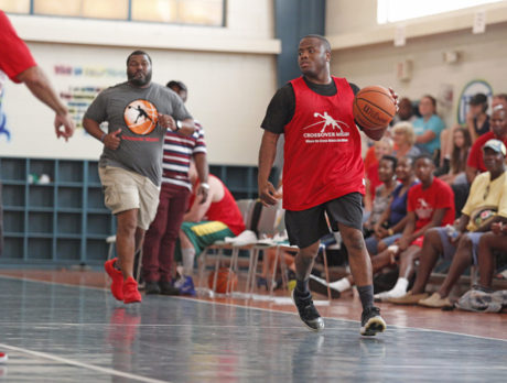 Supreme court camaraderie at Crossover/Sheriff hoops