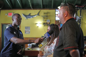 Weather Channel talks to Riverside Cafe about preps for