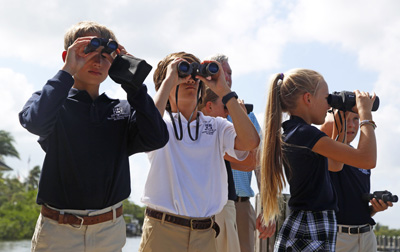 St. Ed's students have outdoor class down to a science