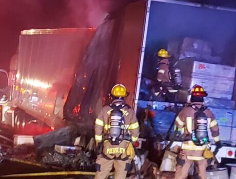 SB I-95 reopen after semi-trailer fire