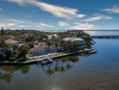 Spectacular views highlight this riverfront beauty