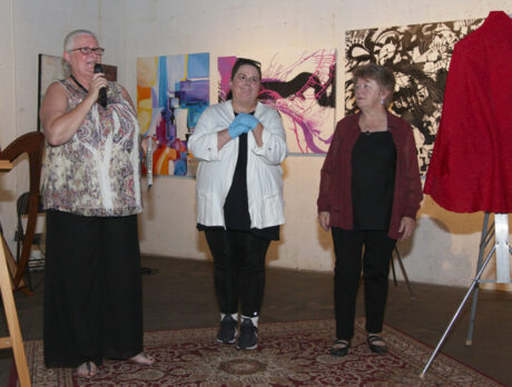Bubbly enthusiasm at 'Keeping the Arts Alive' reception