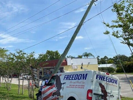 Driver hurt after crashing into utility pole